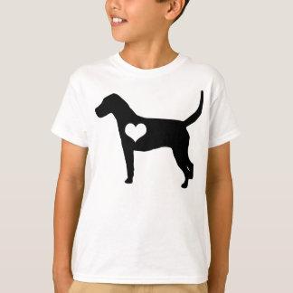 O coração do Foxhound americano caçoa o t-shirt