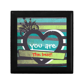 O coração do vintage com você é a melhor caixa de  caixa de presente quadrada pequena
