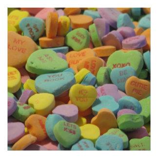 O coração dos doces seja meu eu te amo modelo da