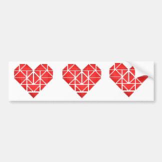 O coração dos namorados adesivo para carro