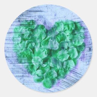 O coração dos namorados da pétala da flor adesivo