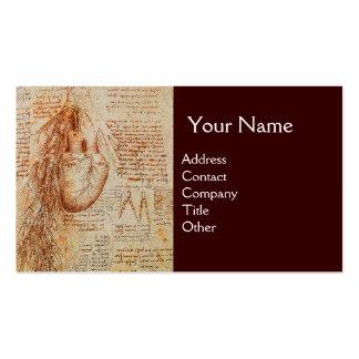 O coração e o monograma das artérias brônquicas cartão de visita