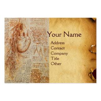 O coração e o monograma das artérias brônquicas cartão de visita grande