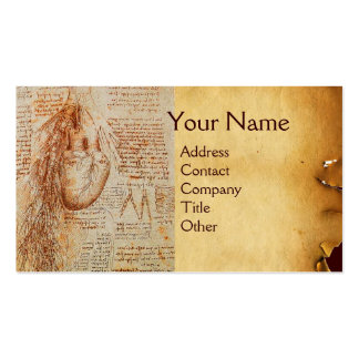 O coração e o pergaminho das artérias brônquicas cartão de visita