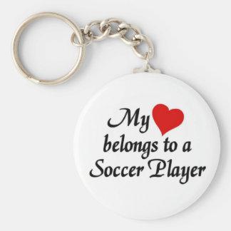 O coração pertence a um jogador de futebol chaveiro