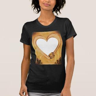 o CORAÇÃO photo-frame-679143 DOURADO SOA INGLESES Tshirts