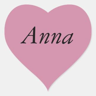 O coração roxo lê Anna Adesivo Coração