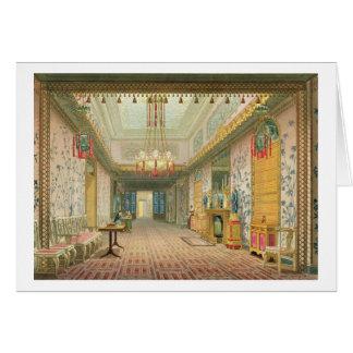 O corredor ou a galeria longa em sua fase final, f cartão