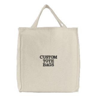 O costume personalizou o modelo bordado da sacola bolsa tote bordada