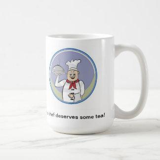 O cozinheiro chefe merece algum chá! caneca de café