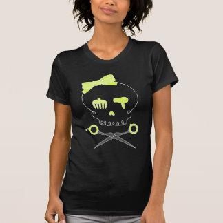 O crânio do cabeleireiro & Scissor Crossbones - am T-shirts