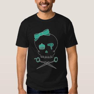 O crânio do cabeleireiro & Scissor Crossbones - T-shirts
