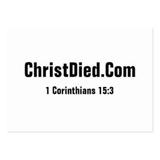 O cristo morreu carnudo cartão de visita grande