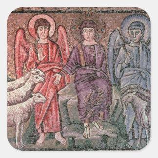 O cristo separa os carneiros das cabras, 6o CEN Adesivo Quadrado