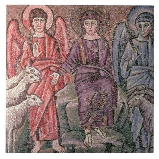 O cristo separa os carneiros das cabras, 6o CEN Azulejo Quadrado Grande