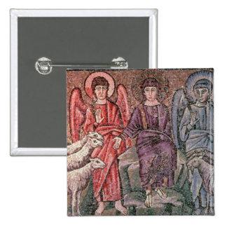 O cristo separa os carneiros das cabras, 6o CEN Bóton Quadrado 5.08cm