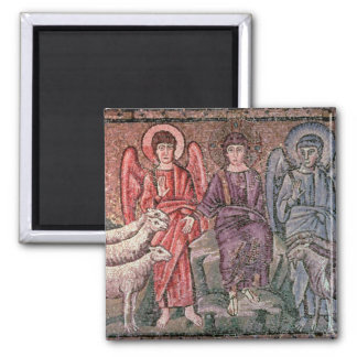 O cristo separa os carneiros das cabras, 6o CEN Ímã Quadrado