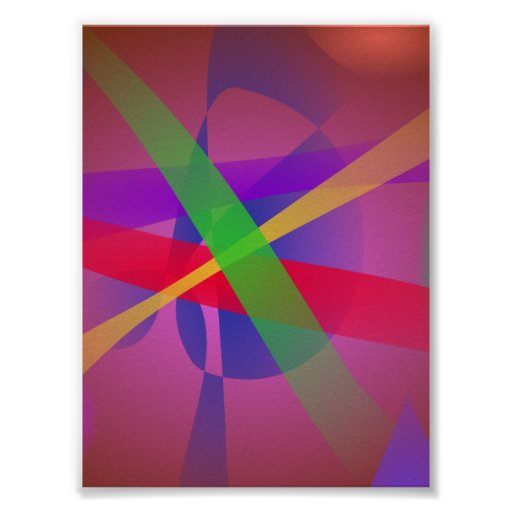 O cruzamento alinha a arte abstracta de Brown Posteres