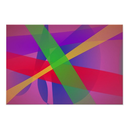 O cruzamento alinha a arte abstracta de Brown Impressão