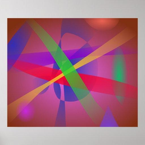 O cruzamento alinha a arte abstracta de Brown Pôsteres