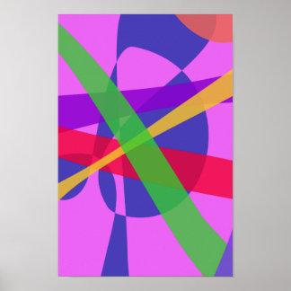 O cruzamento alinha a arte abstracta primitiva posters