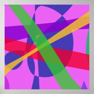 O cruzamento alinha a arte abstracta primitiva