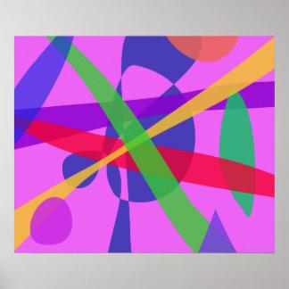 O cruzamento alinha a arte abstracta primitiva impressão