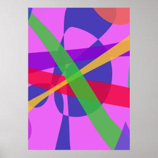 O cruzamento alinha a arte abstracta primitiva posteres