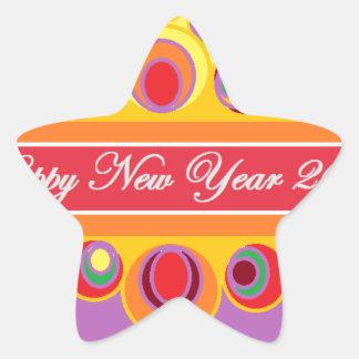 O cumprimento de ano novo adesito estrela