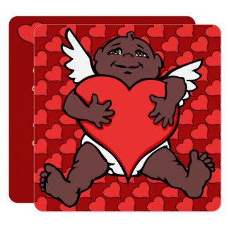 O Cupido africano dos convites dos namorados carda