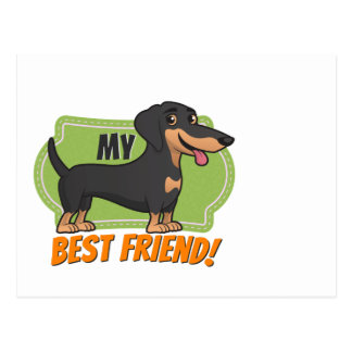 O Dachshund é meu melhor amigo! Cartão Postal