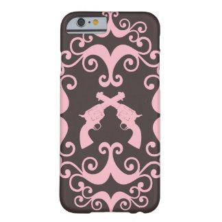 O damasco atira no teste padrão cor-de-rosa capa barely there para iPhone 6