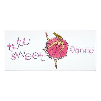 o dance party da dança da dança 4x9.25 convida convite personalizado