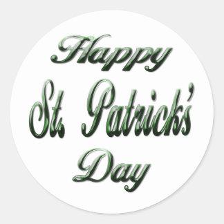 O Day2 de St Patrick feliz Adesivos Em Formato Redondos