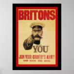 O ~ de Britânicos junta-se ao exército do seu país Posters