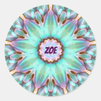 O ~ de ZOE personalizou o ~ do Fractal da etiqueta