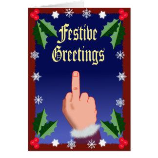 O dedo festivo cartão comemorativo