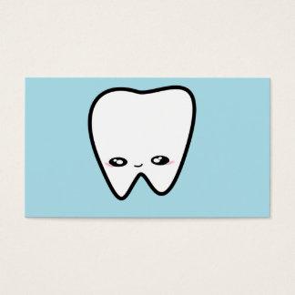 O dentista do dente de Kawaii caçoa o higienista Cartão De Visita