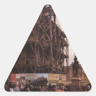 O DES Pyramides do lugar, Paris Giuseppe de Nittis Adesivo Triangular