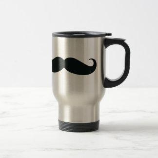 O design do bigode caneca térmica