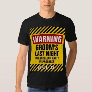 O despedida de solteiro do noivo de advertência a tshirt