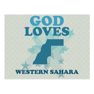 O deus ama Western Sahara Cartoes Postais