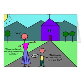 O DEUS do gosto… obtem o católico Cartão De Nota