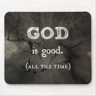 O deus é bom… todo o tempo cristão feito sob encom mouse pad