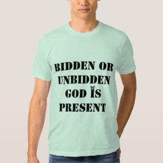 O deus é camisa atual t-shirts