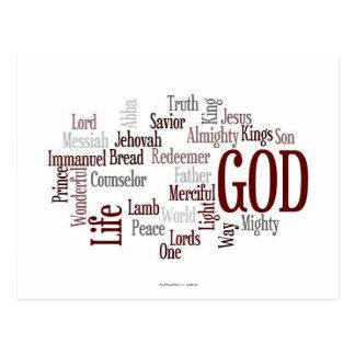 O deus é esperança cartão postal