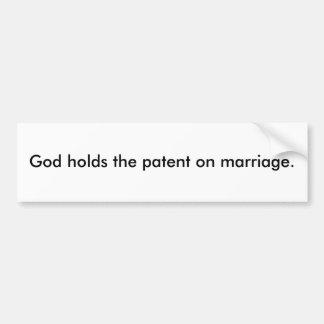 O deus guardara a patente na união adesivo para carro