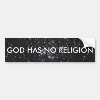 O deus não tem nenhuma religião adesivo para carro