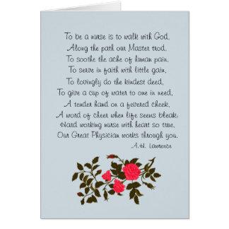 """O dia da enfermeira, """"para ser poema de uma cartão"""