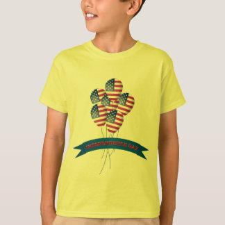 O Dia da Independência Balloons o t-shirt do